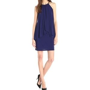 Betsy & Adam Women's Halter Popover Dress